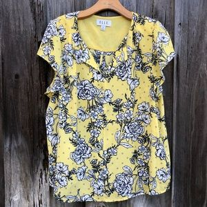Elle Yellow Floral Top